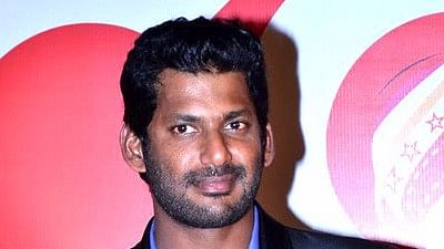 """Actor Vishal has been a strong voice in the Tamil film industry against piracy and censorship. <i>(Photo Courtesy:<a href=""""https://en.wikipedia.org/wiki/Vishal_(actor)#/media/File:Vishal_at_CCL_4_Launch_(cropped).jpg""""> Wikipedia</a><a href=""""https://en.wikipedia.org/wiki/Jai_(actor)#/media/File:Jai_at_Nadigar_Sangam_Election.jpg"""">)</a></i>"""
