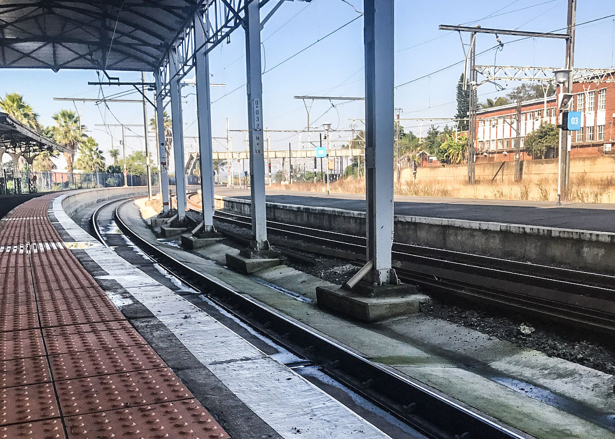 The platform where Gandhi was thrown out of the train.