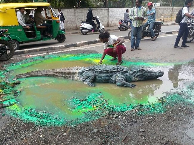 Mermaids Come Out & Play in B'luru's Flooded and Potholed Streets