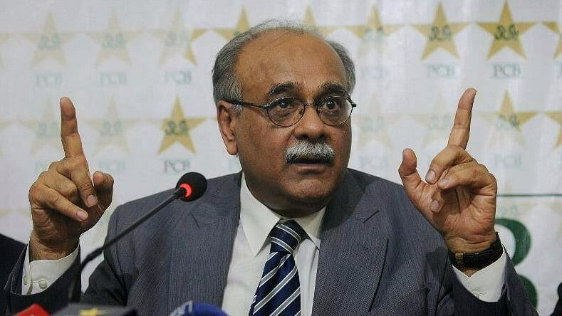 "Chairman of Pakistan Cricket Board Najam Sethi. <i>(Photo Courtesy: <a href=""https://www.facebook.com/CricketKDeewany/"">Facebook/Cricket For Peace</a>)</i>"