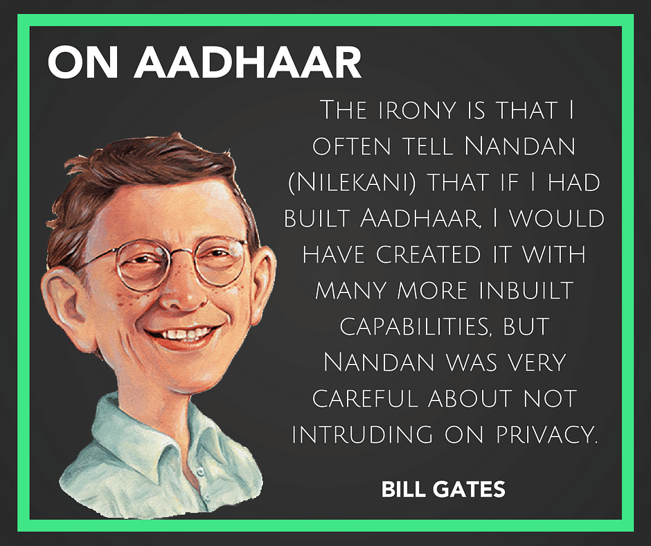 Aadhaar Not Intrusive, Indian Education Disappointing: Bill Gates