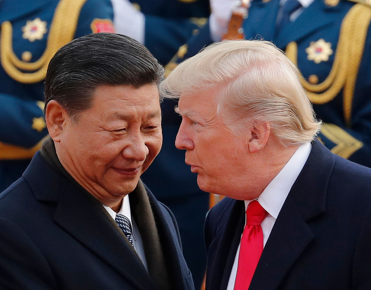 Donald Trump with Chinese President Xi Jinping.