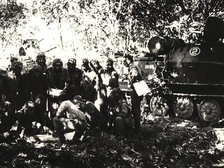 A photograph from the Battle of Garibpur.