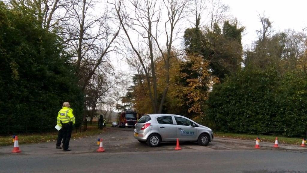The crash took place near Waddesdon Manor.
