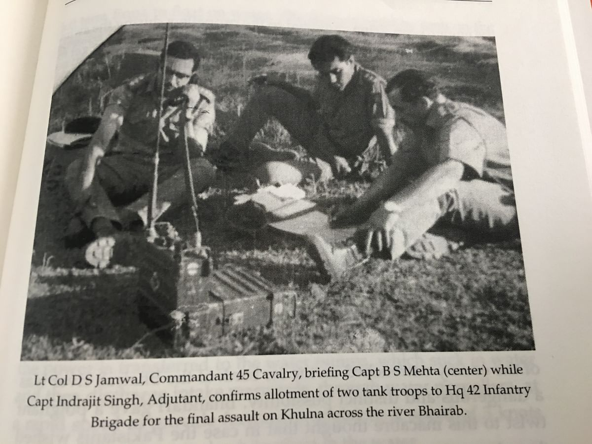 A rare photograph featuring a young Brig Mehta in the centre.