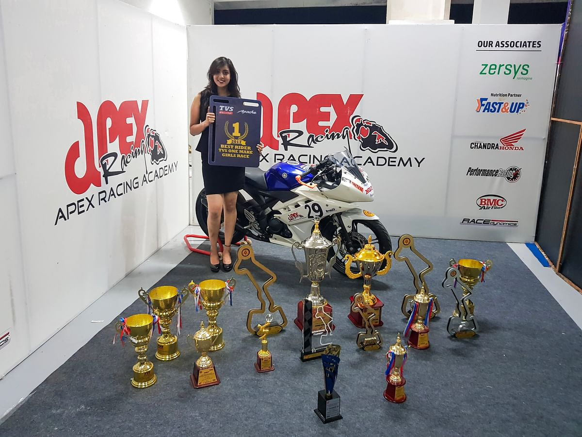 Aishwarya is a road racer in Apex Racing Academy and a rallyist representing TVS Motor Corporation.