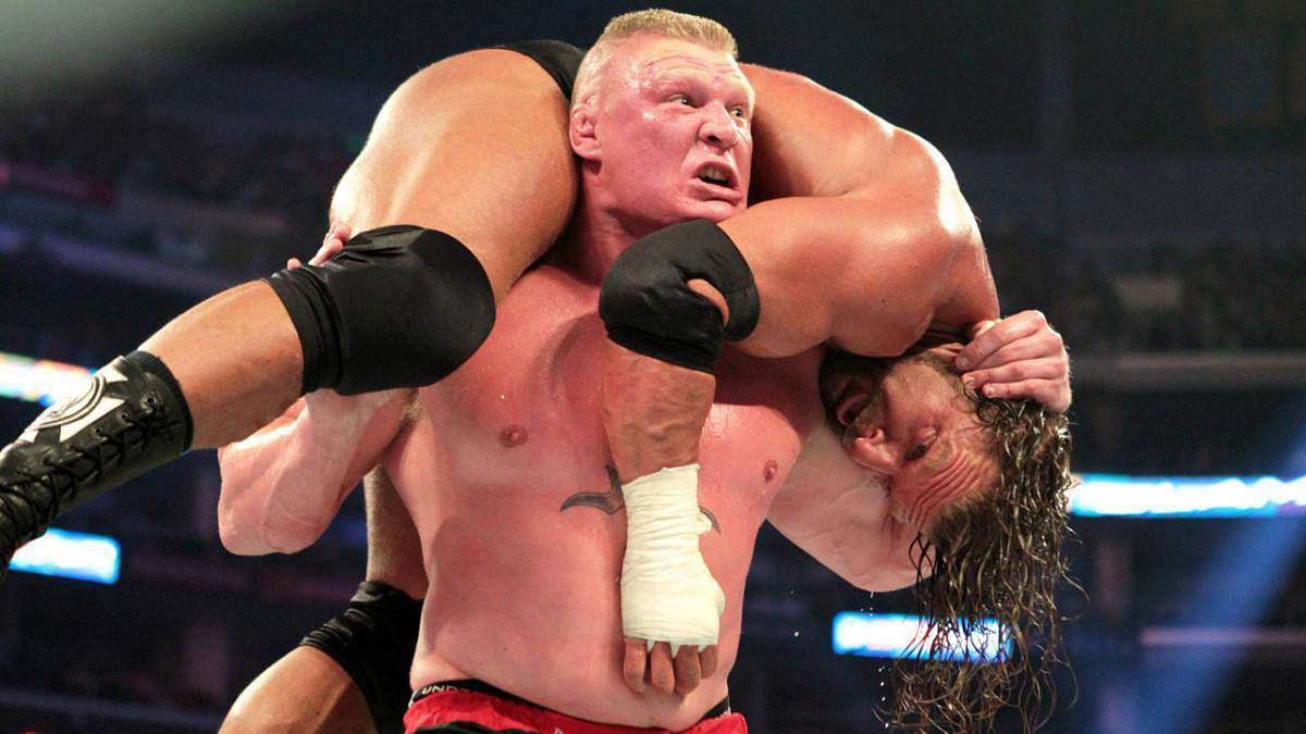 Brock Lesnar in action.