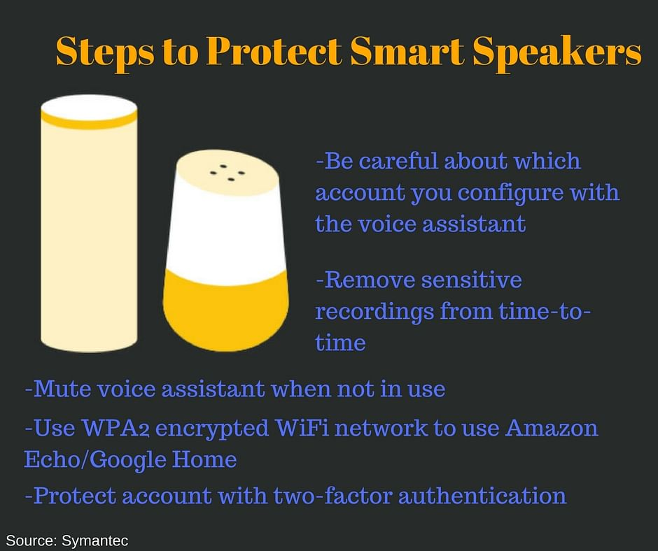 Smart speakers are cool but make sure they are publicly connected.