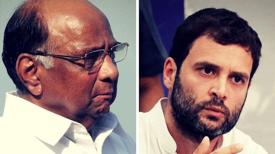 NCP Chief Sharad Pawar and Congress President Rahul Gandhi
