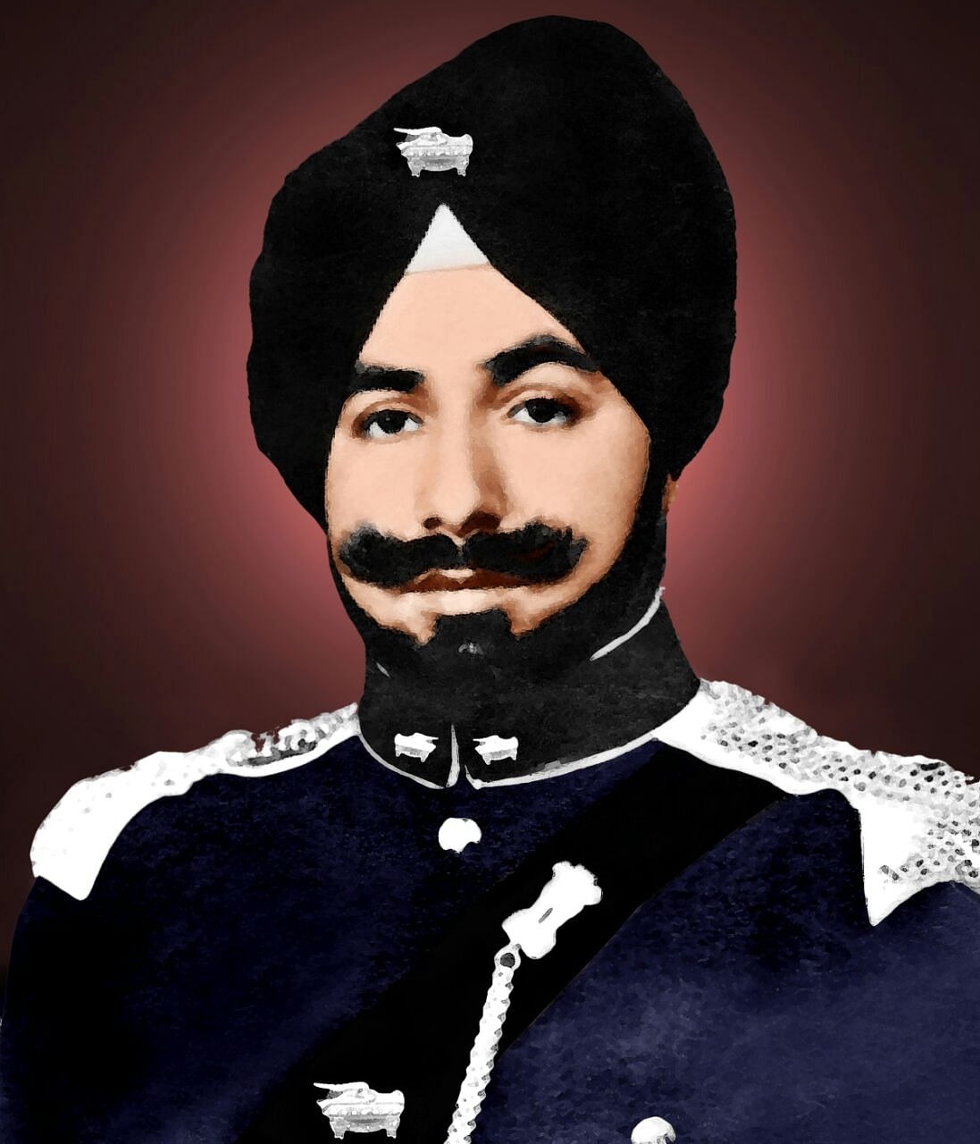Major DS Narag - the Squadron Commander who was martyred during the Battle of Garibpur.