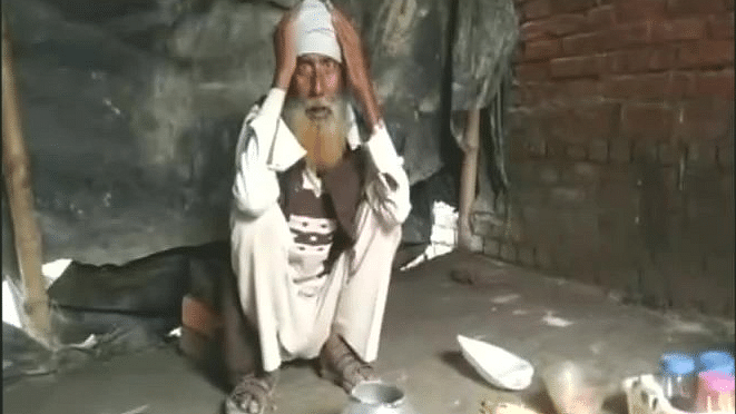 Ishaq Ahmed said he was refused ration by the shop owner.