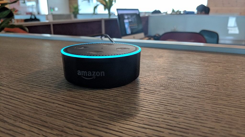 Amazon Echo Dot works in tandem with Alexa voice assistant.