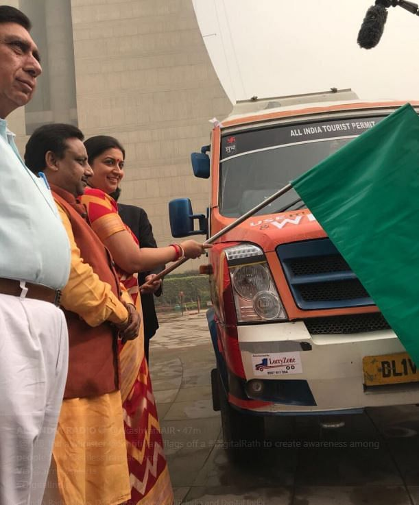 Smriti Irani flags off 'Digital Rath'