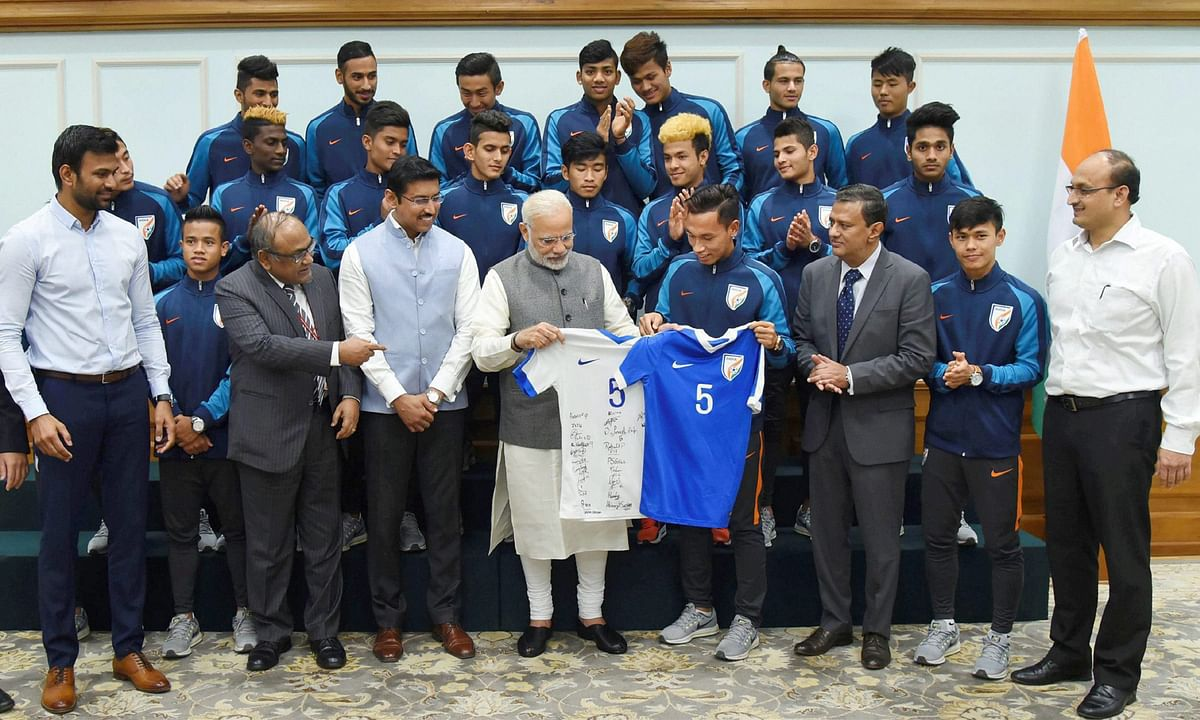 PM Modi Encourages Under-17 Players to Aim Higher After World Cup