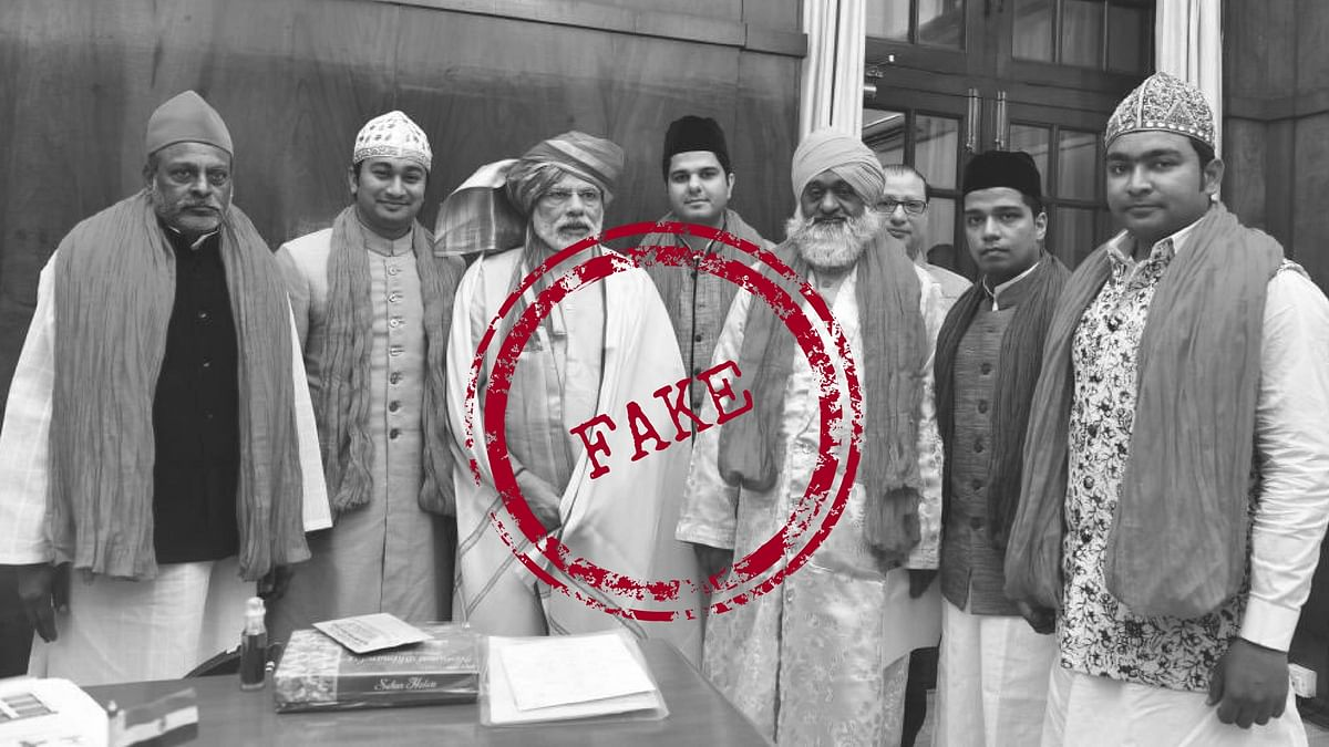 A photo of PM Modi from the Ajmer Sharif Dargah is being given a nefarious spin linking it to the upcoming election in Gujarat.