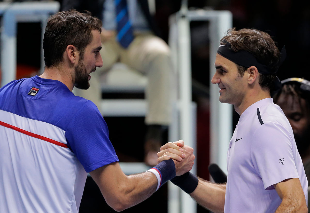 Roger Federer defeated Marin Cilic 6-7(5), 6-4, 6-1 on Thursday.