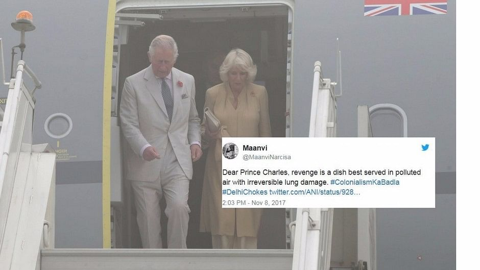 Prince Charles arrives in Delhi with wife Camilla