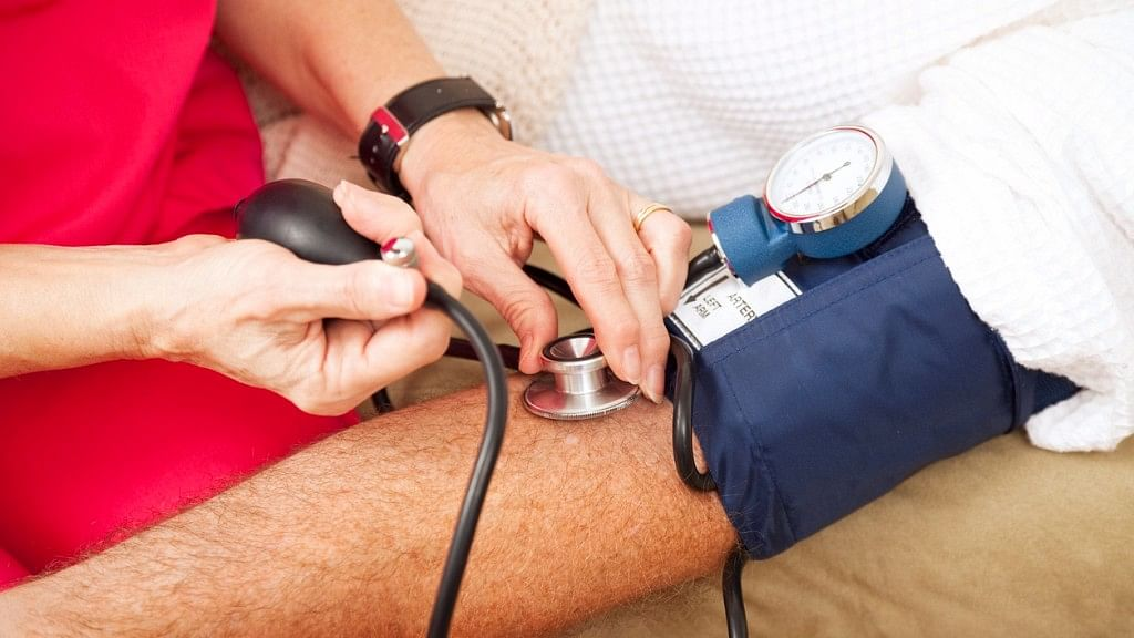 In India, hypertension in adults is defined with a blood pressure of 140/90.