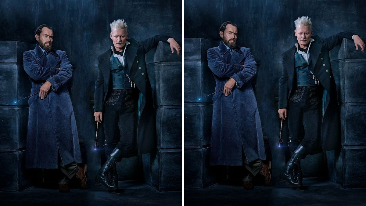 Jude Law and Johnny Depp steal the show in the new poster of <i>Fantastic Beasts: The Crimes of Grindelwald.</i>