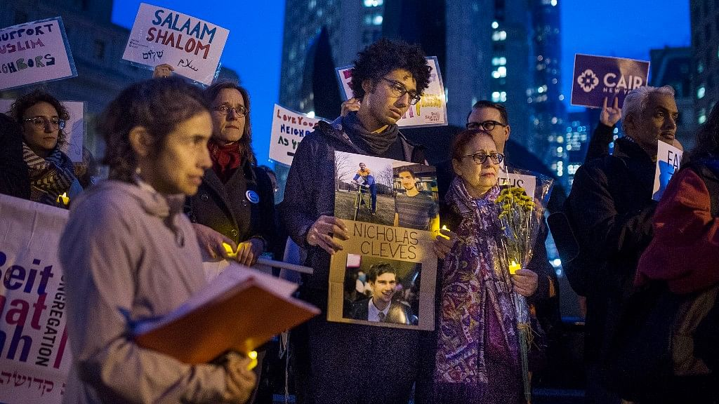 Friends and relatives mourn for those killed in the Manhattan attack.
