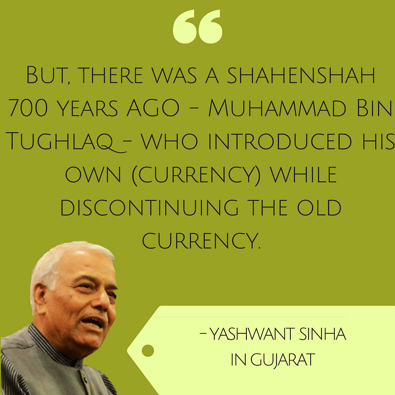 Yashwant Sinha Goes All Out: 'Modi Like Tughlaq, Jaitley a Burden'