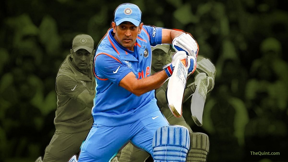 Of late, questions have been raised about MS Dhoni's place in the Indian team.