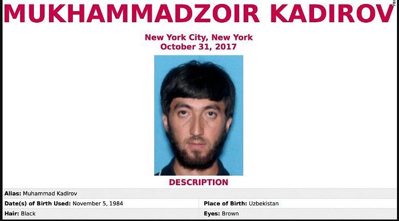 Saipov Remorseless  on Manhattan Attack, Trump Wants Death Penalty