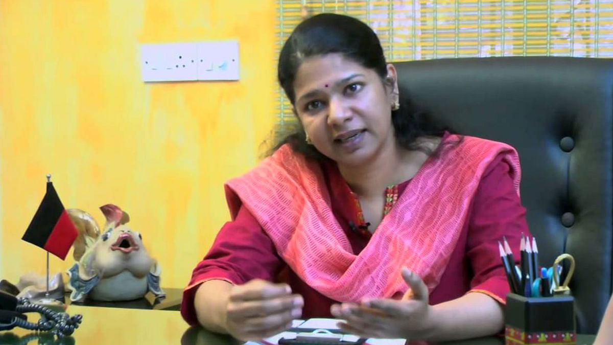 Rajya Sabha Member of Parliament Kanimozhi  sarcastically thanked the Vallur thermal power plant, Bharat Petroleum, Hindustan Petroleum and Kamarajar port for the Ennore creek encroachments that had caused flooding in nearby areas.