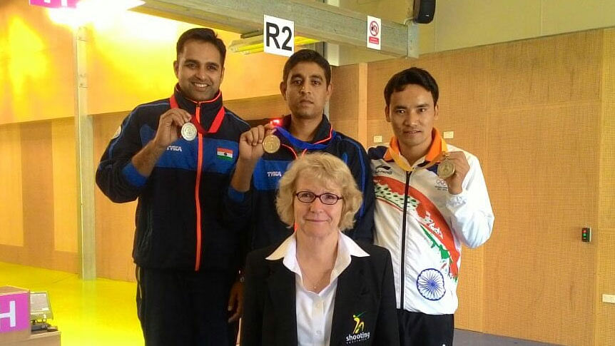 Omkar Singh, Shahzar Rizvi and Jitu Rai won the silver, gold and bronze medals, respectively, in the 10m air pistol event.