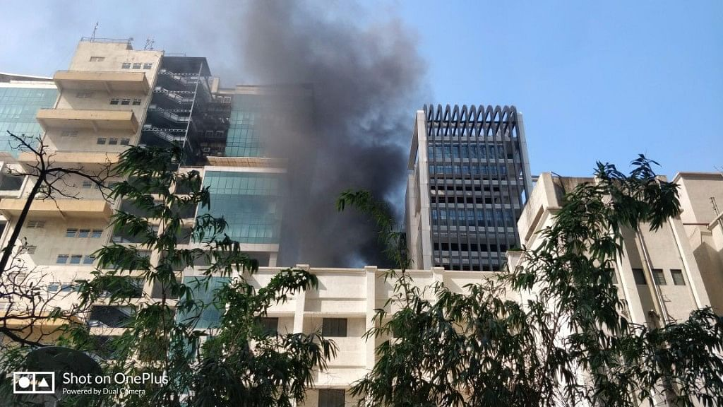 Massive fire breaks out at Vashi building, which housed Arunachal Bhawan.