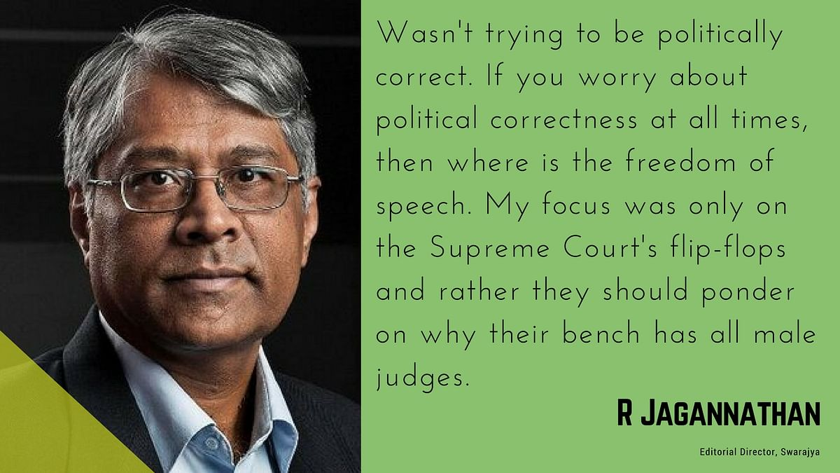 SC Can't Even Blame PMT For Mood Swings: Jagannathan's Sexist Joke