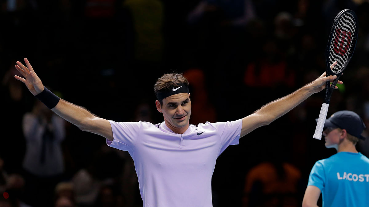 Roger Federer was unbeaten in the round-robin play at the ATP Finals.
