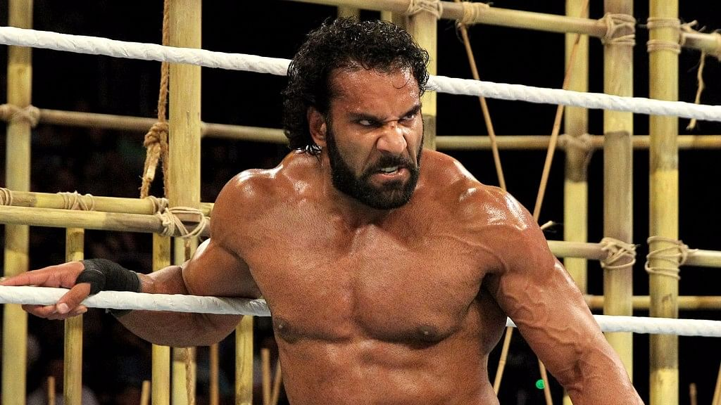 Jinder Mahal in action.