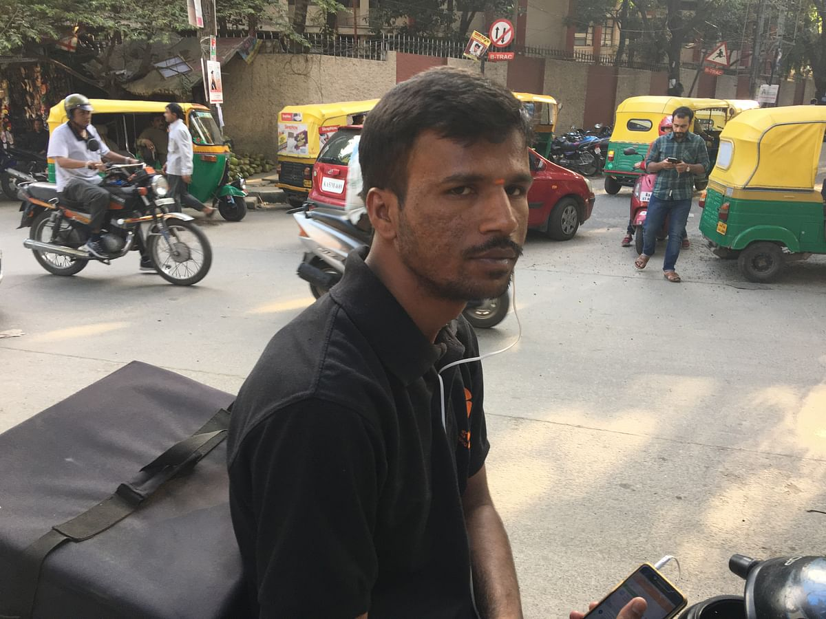 Rajesh Gowda works at a food delivery company.