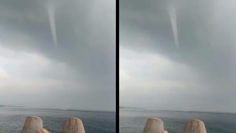 Residents of Kasimedu in north Chennai claim they spotted a water spout.