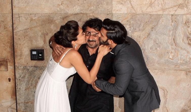 Deepika Padukone and Ranveer Singh show their affection for filmmaker Sanjay Leela Bhansali.