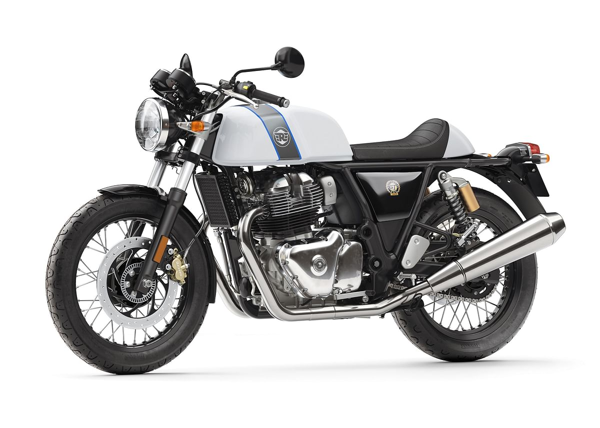 The Royal Enfield Continental GT 650 is built on the GT 535 chassis.