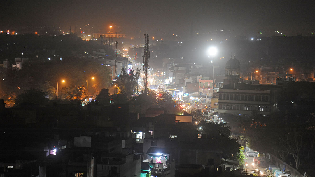 The walled city of Ahmedabad covered in smog on Friday, 17 November.