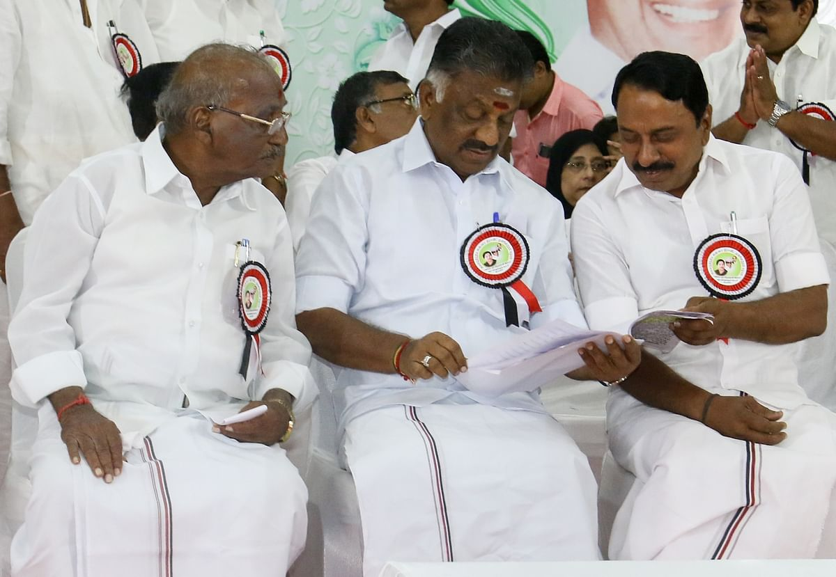 Tamil Nadu Deputy Chief Minister O Panneerselvam during AIADMK General Council meeting in Chennai on 12 September 2017.