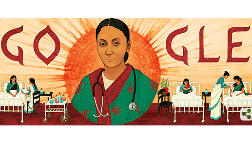 The Google Doodle honours Rukhmabai.