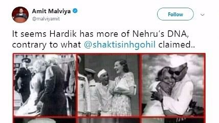 """Hardik Has His DNA,"" Tweets BJP on Pic of Nehru Hugging Sister"
