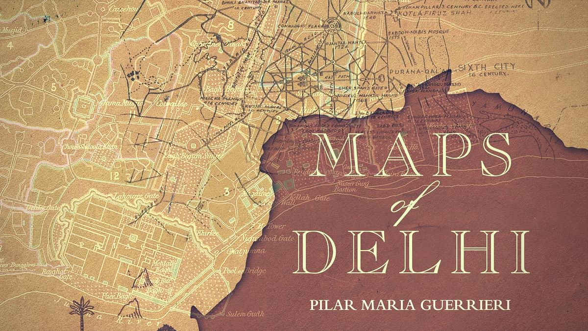 Cover of Pilar Maria Guerrieri's book on Delhi