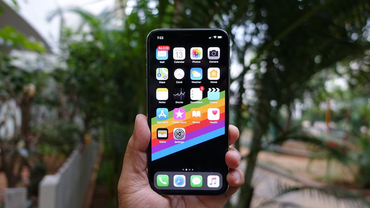 iPhone X comes with a 5.8-inch OLED screen.