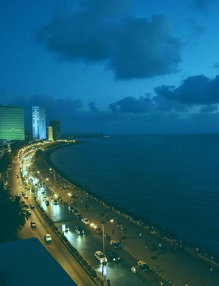 A view of the Mumbai sea.