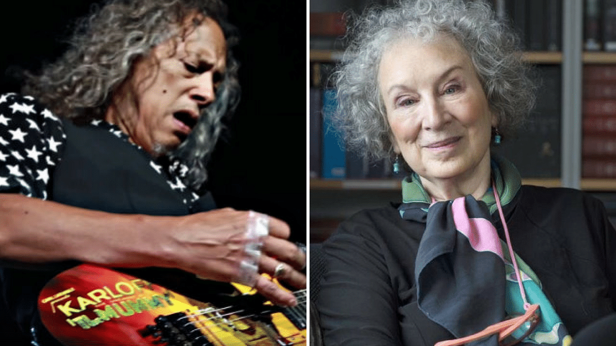Kirk Hammett and Margaret Atwood.