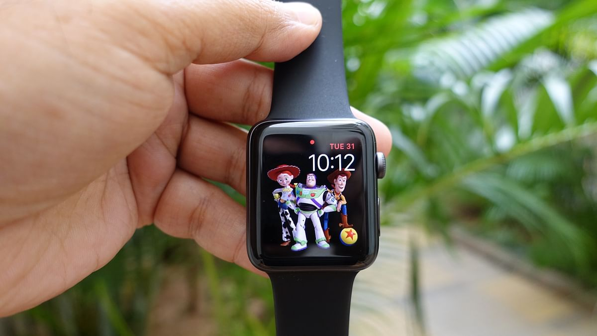 Brighter display on the third edition Apple Watch.