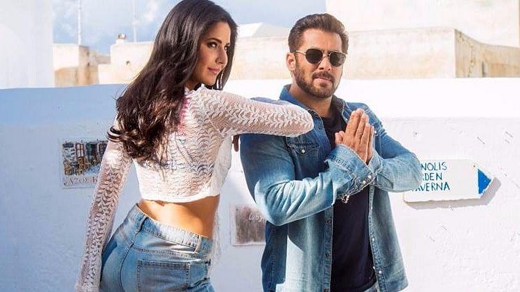 Salman Khan and Katrina Kaif in the song, <i>Swag Se Swagat</i>&nbsp; from <i>Tiger Zinda Hai.</i>