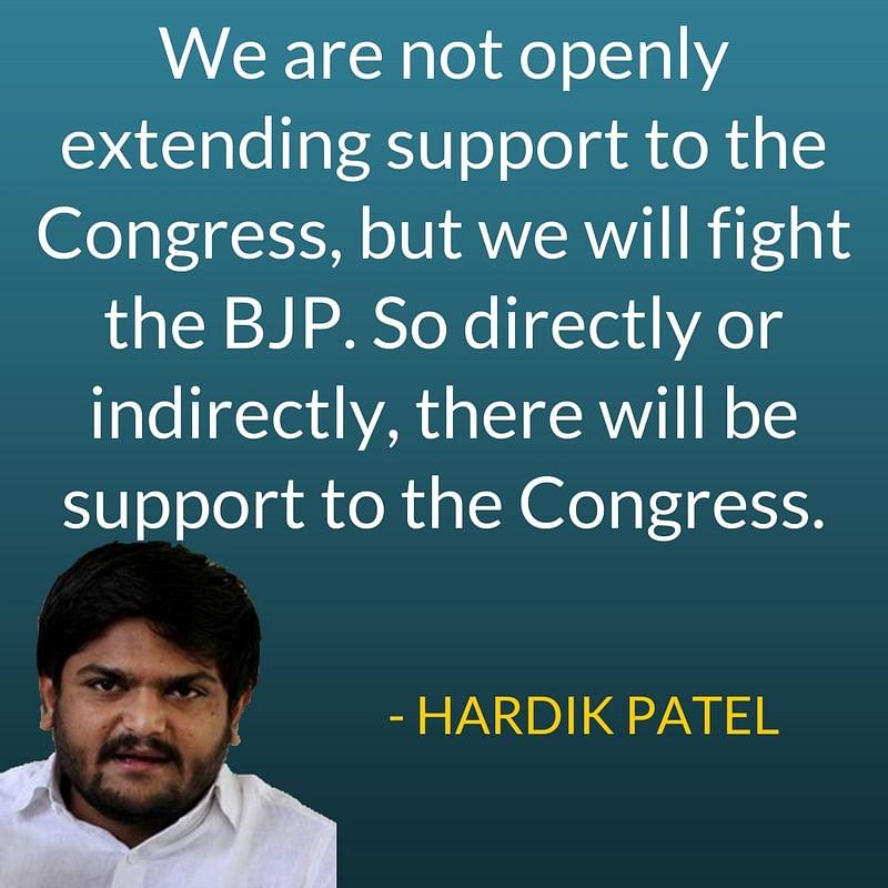 Gujarat Polls: Hardik Says Congress Has Okayed Quota For Patidars