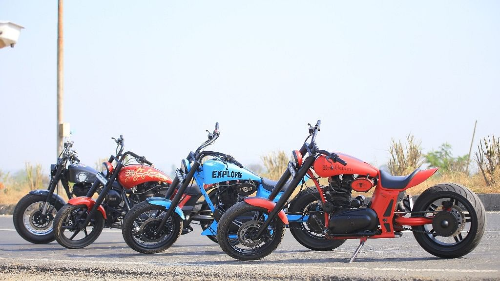 Customised Royal Enfield bikes are the highlight of the Rider Mania event in Goa