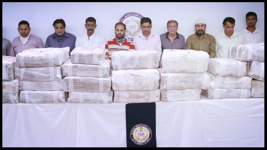 Over Rs 36 crore old currency seized by the National Investigation Agency from a gang of nine people in Delhi.